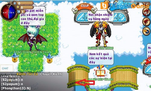 Hệ thống chat trong game