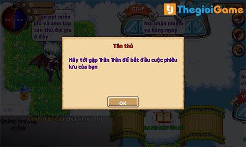 Nhận nhiệm vụ game Gopet