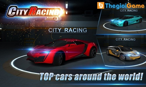 Game đua xe City racing 3d