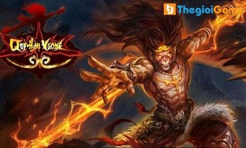 Giao diện mở đầu game quỷ hầu vương