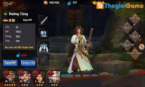Chọn tướng chiến đấu trong game