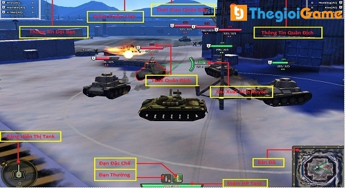 Chi tiết các giao diện trong game