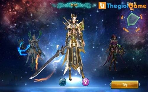 Lựa chọn nhân vật trong game