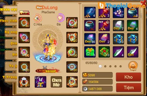 Thuộc tính nhân vật trong game