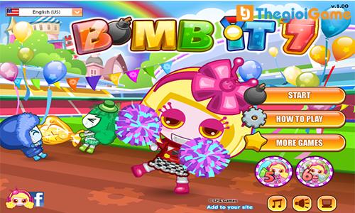 Mở đầu trong game Bom it 7