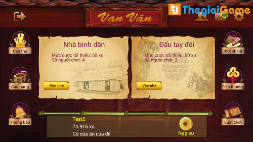 Giao diện trong game