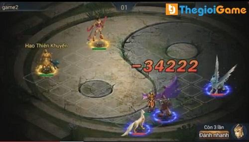 Trận chiến đầu tiên khi tham gia vào game