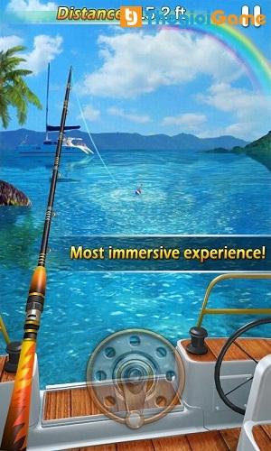Sử dụng kỹ năng để kéo cá lên khỏi mặt nước