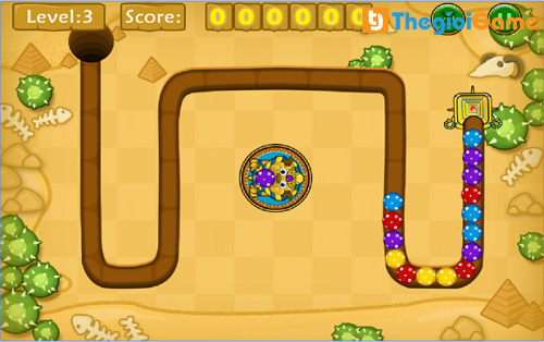 Game Jungle Marble Blast