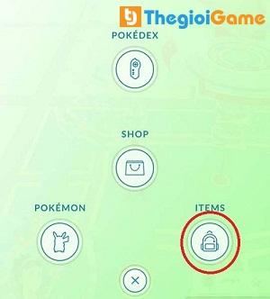 Biểu tượng túi đồ trong game Pokemon Go